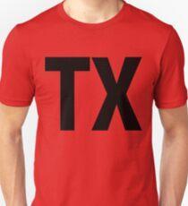 Texas TX Black Ink Slim Fit T-Shirt
