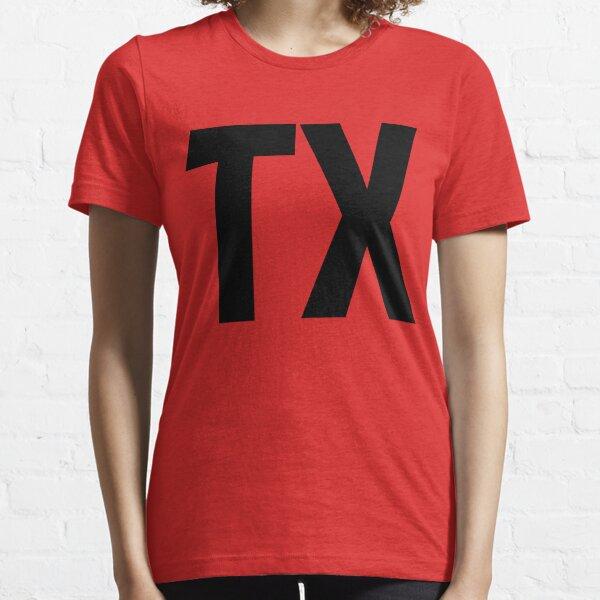 Texas TX Black Ink Essential T-Shirt