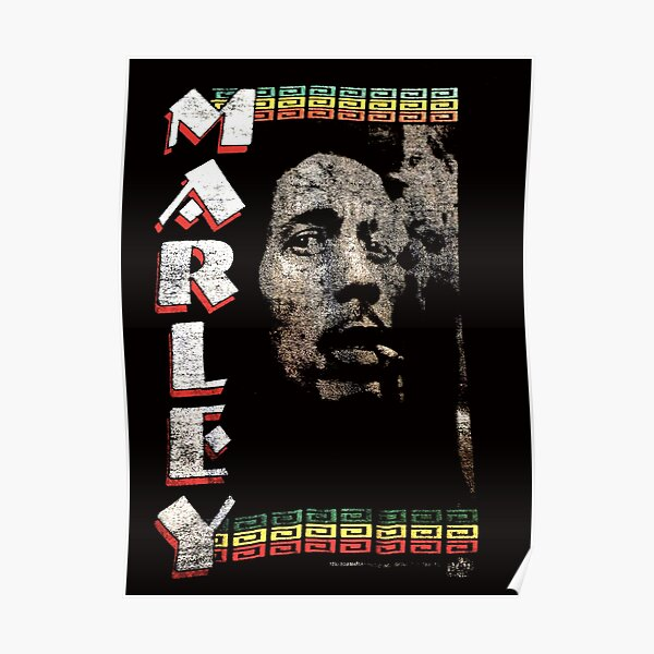 Find 1995 Bob Marley Music Inc Bob Smoking Spliff Double Sided Marley Vintage T-Shirt Poster
