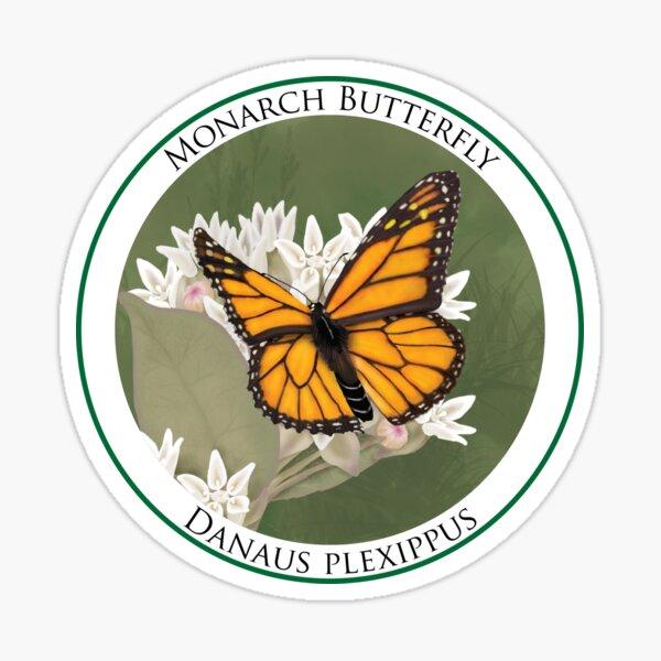 Monarch Butterfly Badge Sticker
