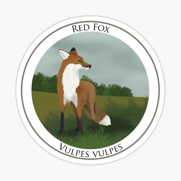 Red Fox Badge Sticker