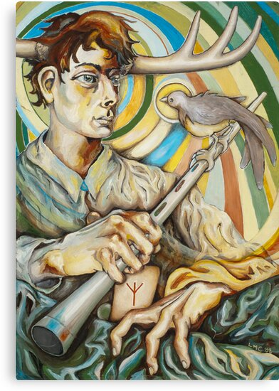 The Flute Player by Lindsey Carrell