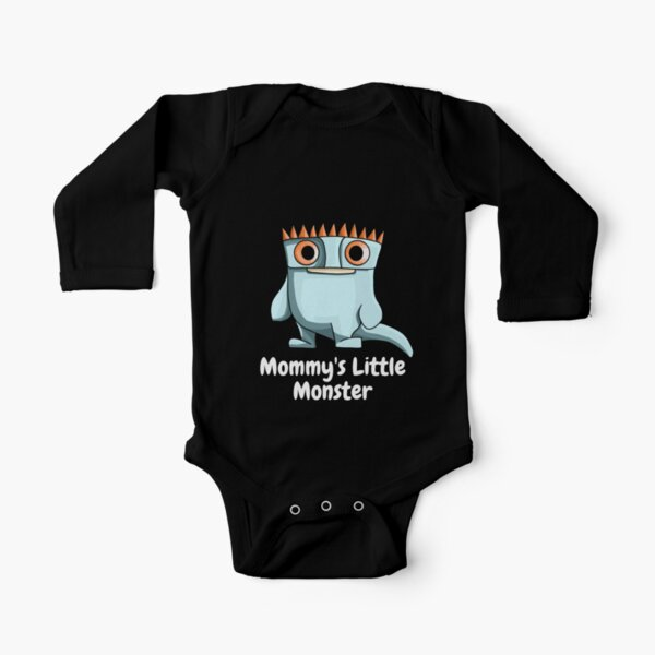 Mommy's Little Monster Spike Long Sleeve Baby One-Piece