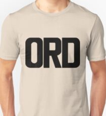 ORD O Hare International Airport Black Ink Slim Fit T-Shirt
