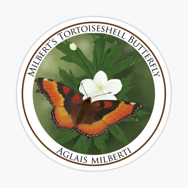 Milbert's Tortoiseshell Badge Sticker