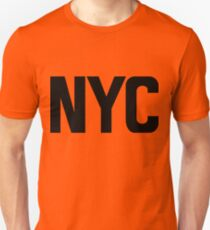 NYC New York City Black Ink Slim Fit T-Shirt