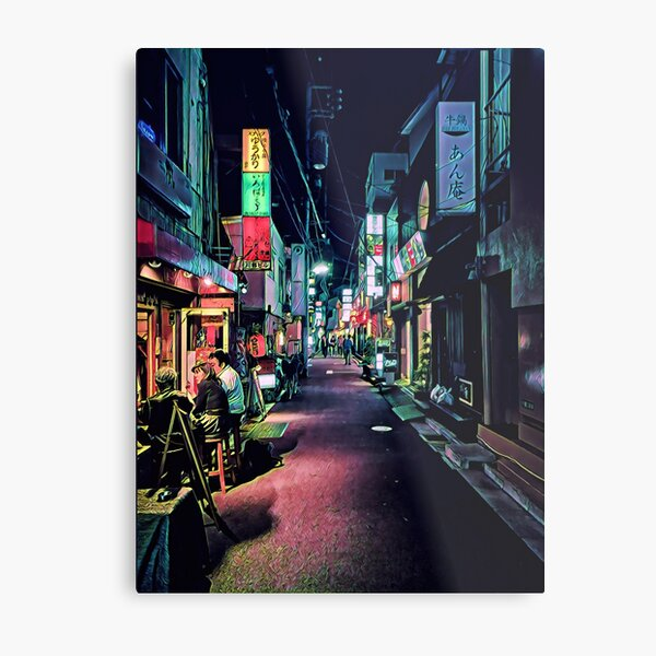 Locals at a Back-Alley Bar, Taito, Tokyo, Japan Metal Print