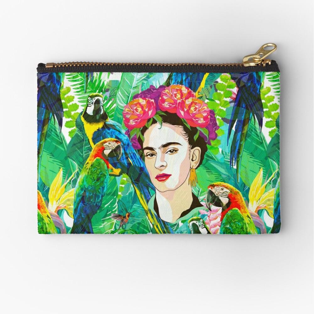 Frida in Flight, I Zipper Pouch