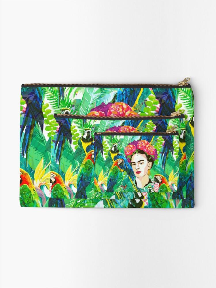 Alternate view of Frida in Flight, I Zipper Pouch