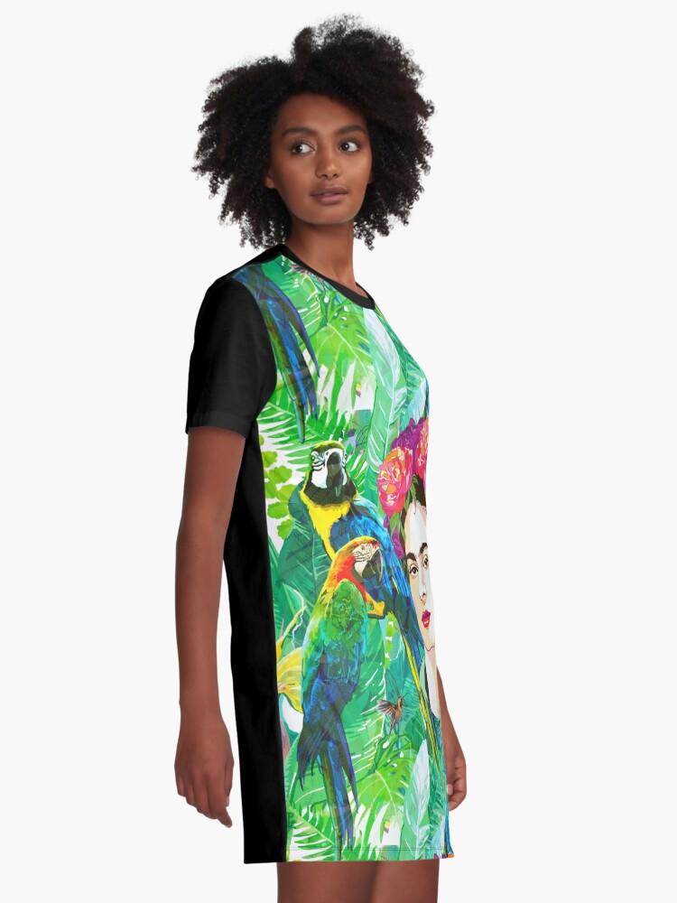 Alternate view of Frida in Flight, I Graphic T-Shirt Dress