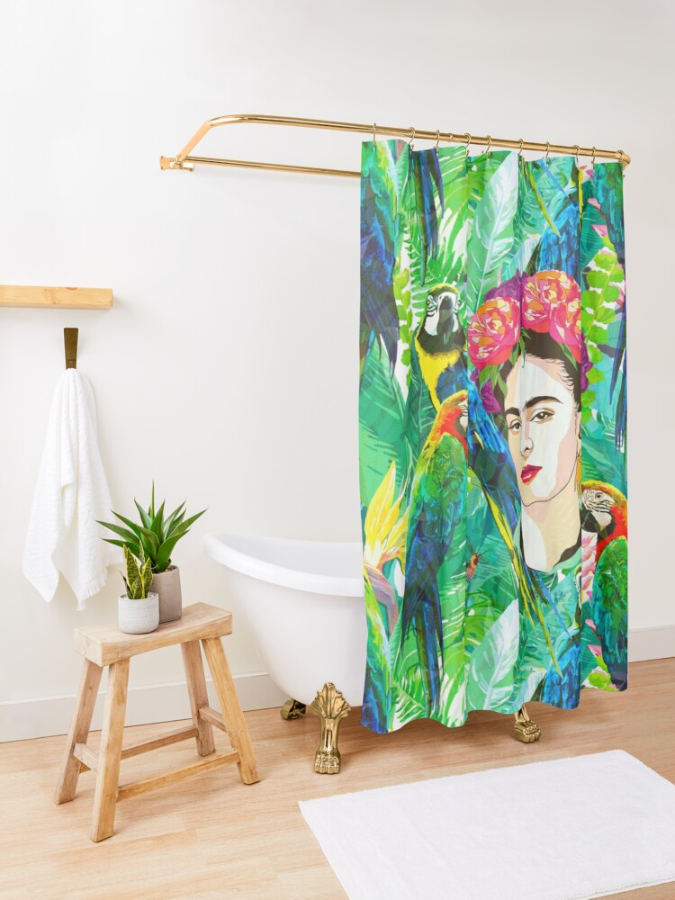Alternate view of Frida in Flight, I Shower Curtain