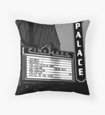 Movie Theater Neon Lights Throw Pillow