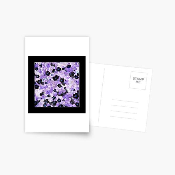 Purple & Black Flowers - Sutera Cordata Postcard