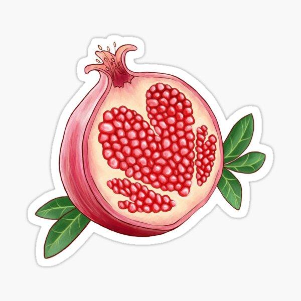 Pomegranate of Love Sticker