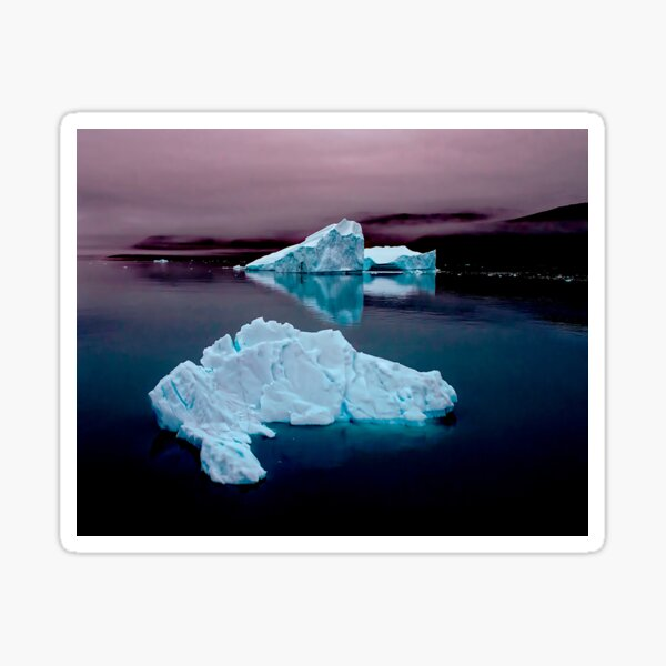High Arctic Icebergs Sticker