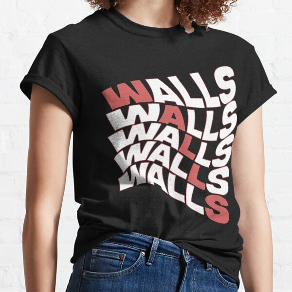 paredes louis tomlinson color raya roja Camiseta clásica