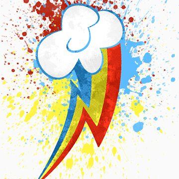 Rainbow Dash Cutie Mark by escadara