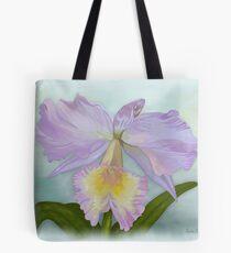 Cattleya Orchid Print Tote Bag