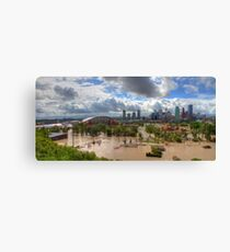 Calgary and Southern Alberta Flood 2013 - North End of Stampede Grounds Canvas Print
