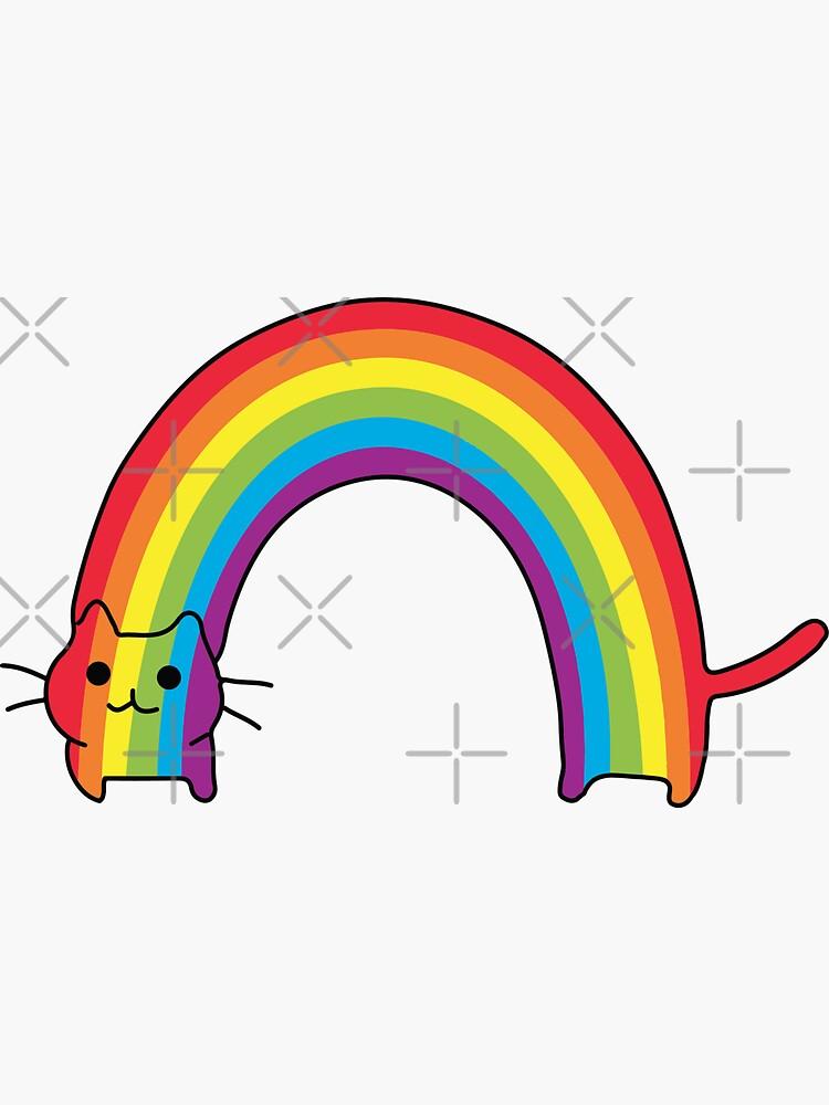 Rainbow Cat by whitneykayc