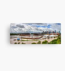 Calgary and Southern Alberta Flood 2013 - South End of Stampede Grounds Canvas Print