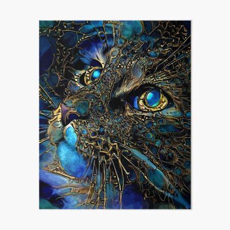 Cat jewell -cat, chat, cat, lea roche paintings Art Board Print