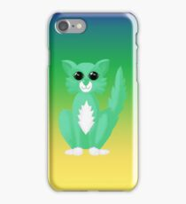 Green Kitty iPhone Case iPhone Case/Skin