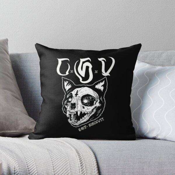 CSV Cat Skull Throw Pillow