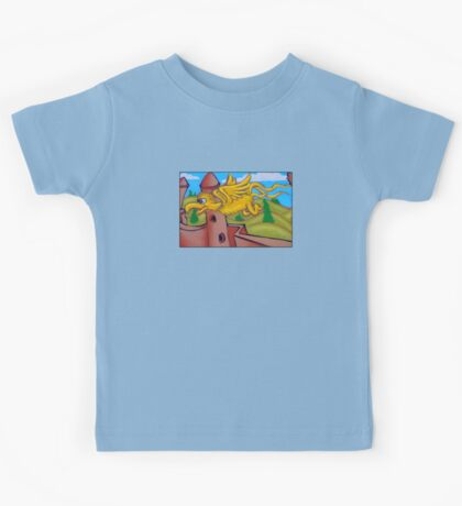 suesslike bird in flight Kids Clothes