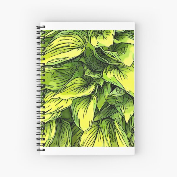 Green & Yellow Hosta Plant Spiral Notebook
