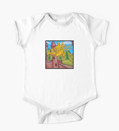 suesslike bird in flight (square) t Kids Clothes