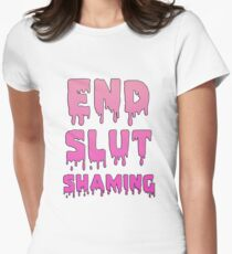 End Slut Shaming Women's Fitted T-Shirt