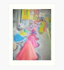 Indian market stall Art Print
