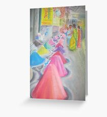 Indian market stall Greeting Card