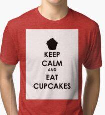 Keep Calm And Eat Cupcakes Tri-blend T-Shirt