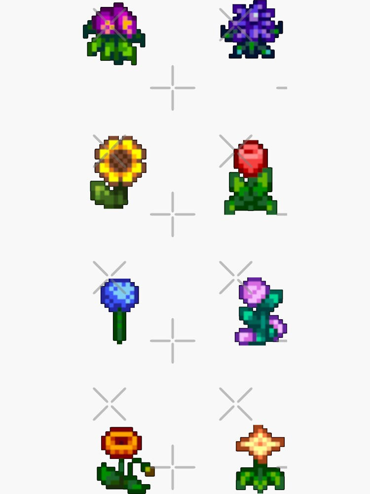 Stardew Valley Flowers by tanchaii