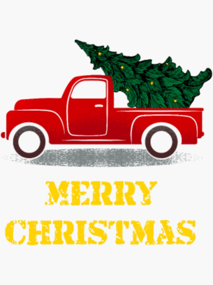 Vintage Truck Christmas Tree Gift For Xmas Day by dangsay159