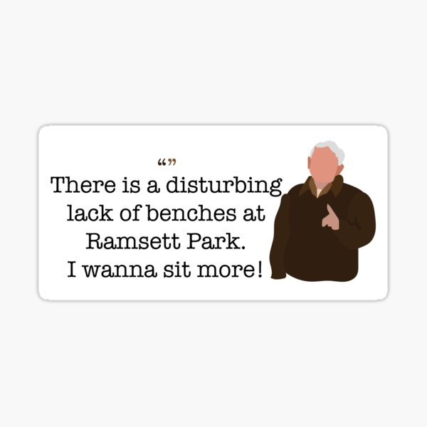 I Wanna Sit More Guy Parks and Recreation Sticker