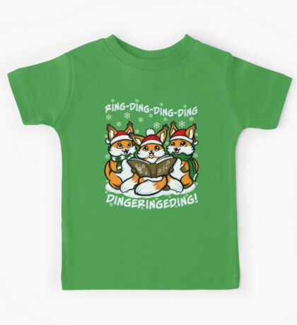 """What does the Fox Sing"" (T-shirts) Kids Clothes"