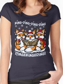 """What does the Fox Sing"" (T-shirts) Women's Fitted Scoop T-Shirt"