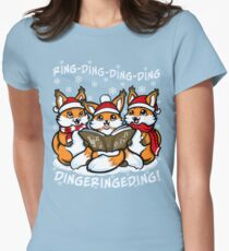 """""""What does the Fox Sing"""" (T-shirts) Women's Fitted T-Shirt"""