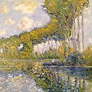 Poplars on the Epte - After Monet by center555