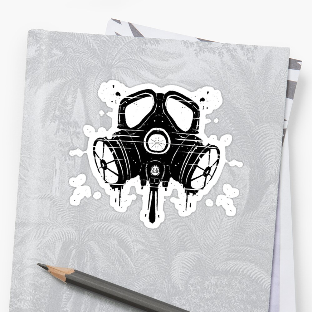 mascara de gas stickers by dibsterscown redbubble