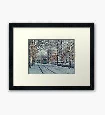 Never ending winter. Brookline, MA Framed Print