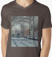 Never ending winter. Brookline, MA Men's V-Neck T-Shirt
