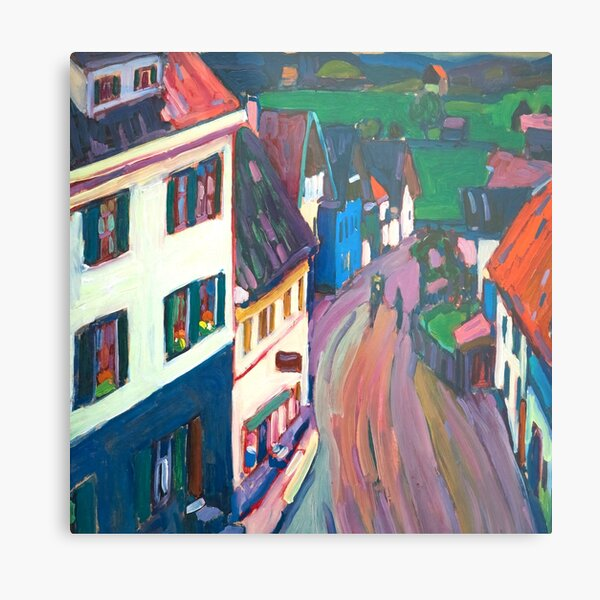 Wassily Kandinsky View from the window of the Griesbrä Metal Print