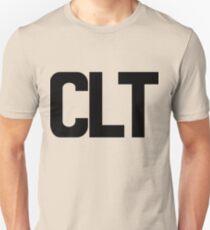 CLT Charlotte Douglas International Airport Black Ink Unisex T-Shirt