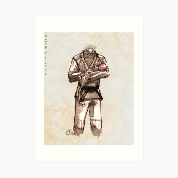 TYJJ - Thank You Jiu-Jitsu IMAGE - PINK Art Print