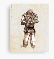 TYJJ - Thank You Jiu-Jitsu IMAGE - GREEN Canvas Print