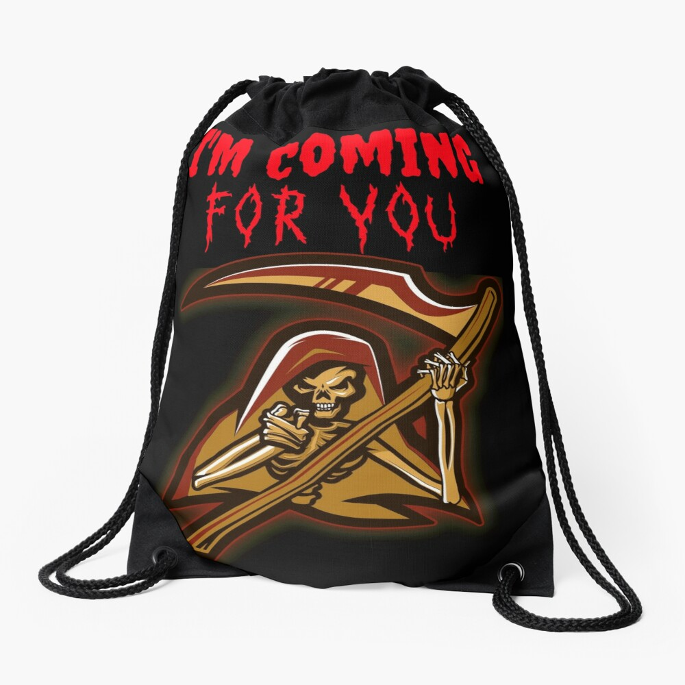 Grim Reaper is coming for you Drawstring Bag